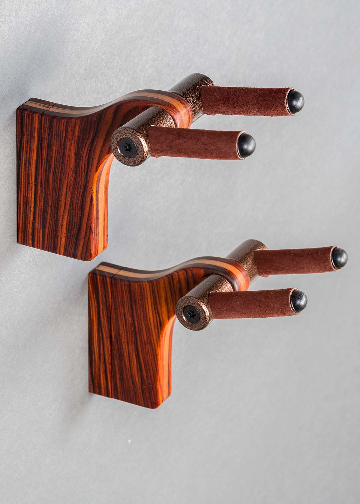 AM Guitar Wall Hanger in Cocobolo with Cherry