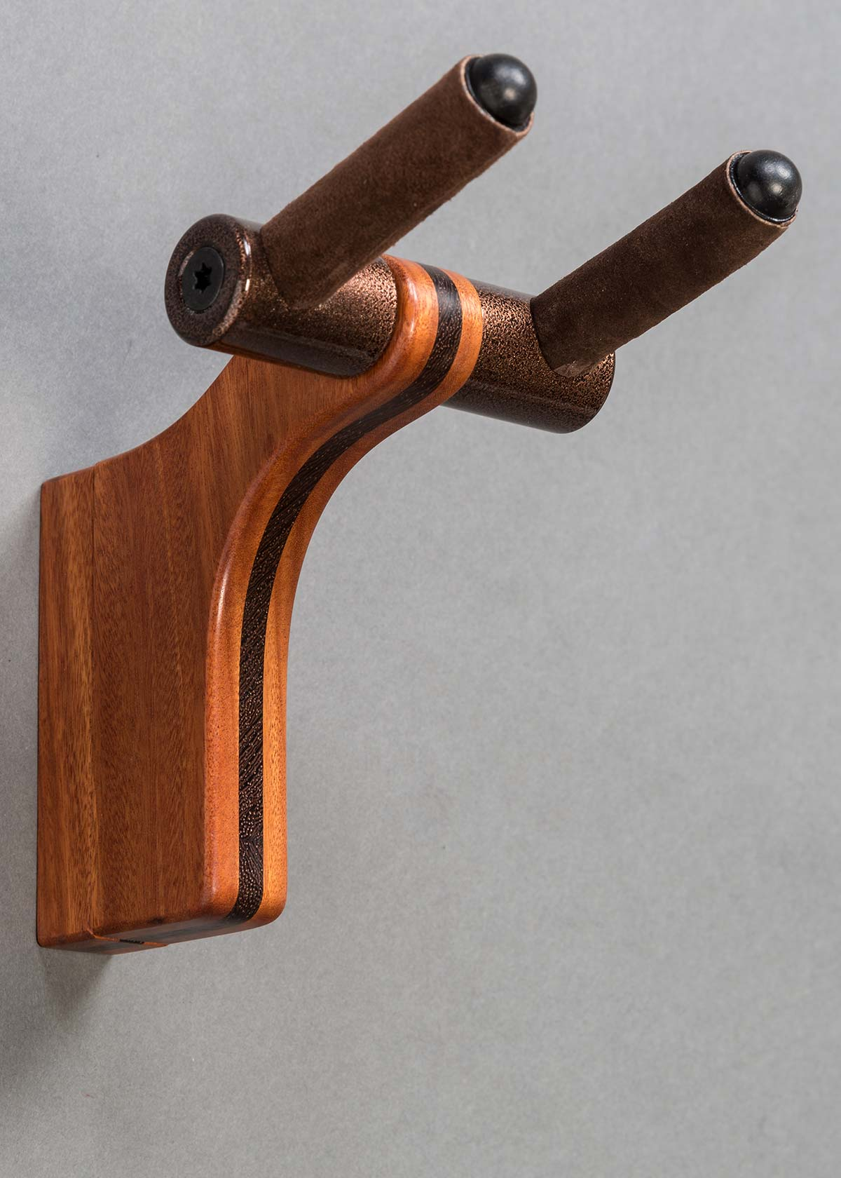 Wall Hanger in Santos Mahogany with Wenge