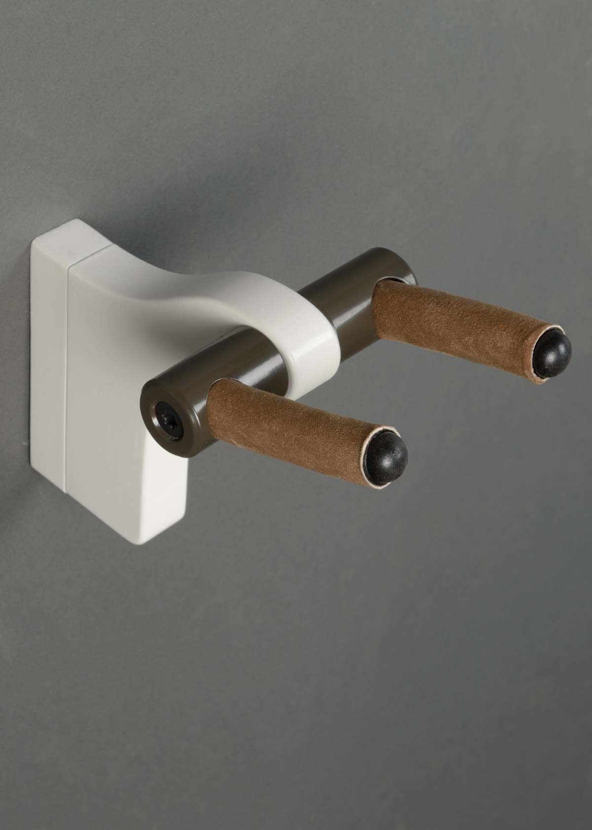 AM Wall Hanger - White Lacquer, Architectural Bronze Hardware