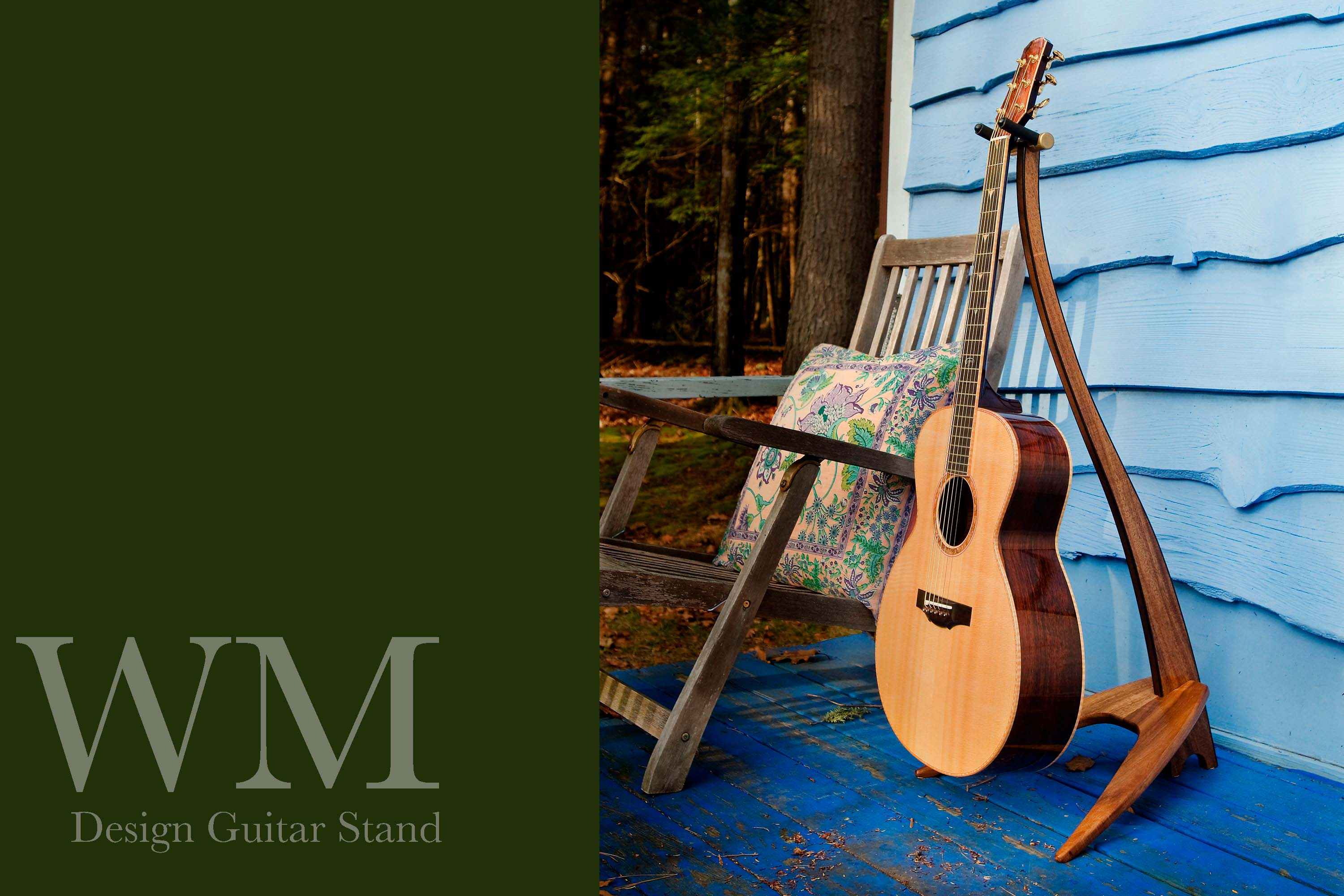 WM Guitar Stand in koa.