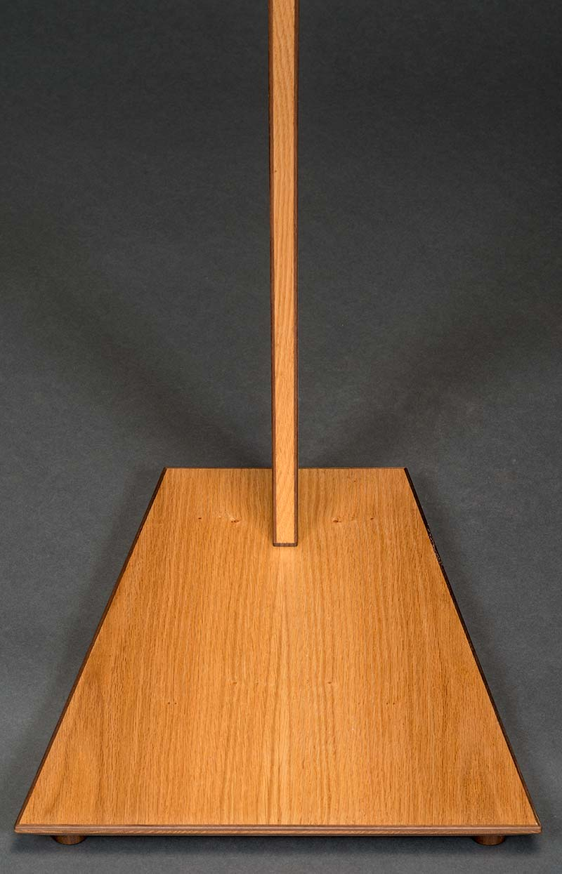SM Guitar Stand in Red Oak with Walnut Binding
