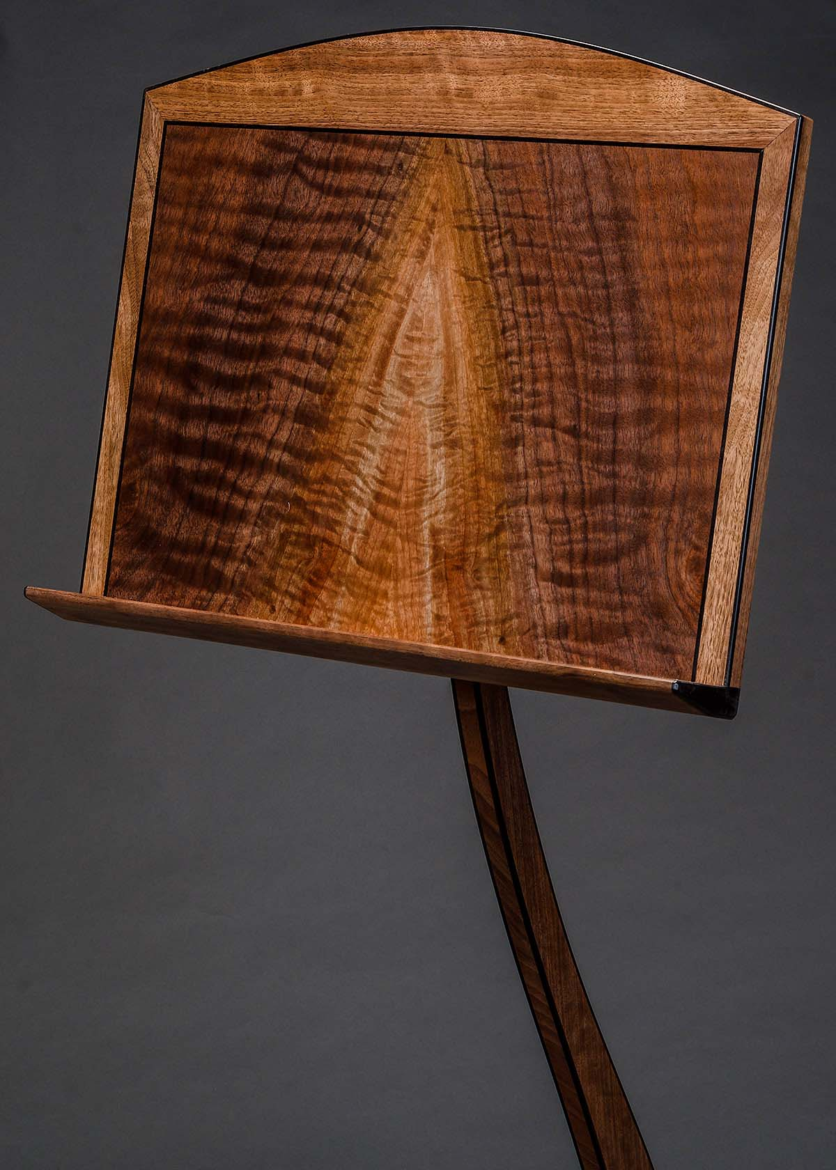 SM Guitar Stand in Claro Walnut with Ebony Binding
