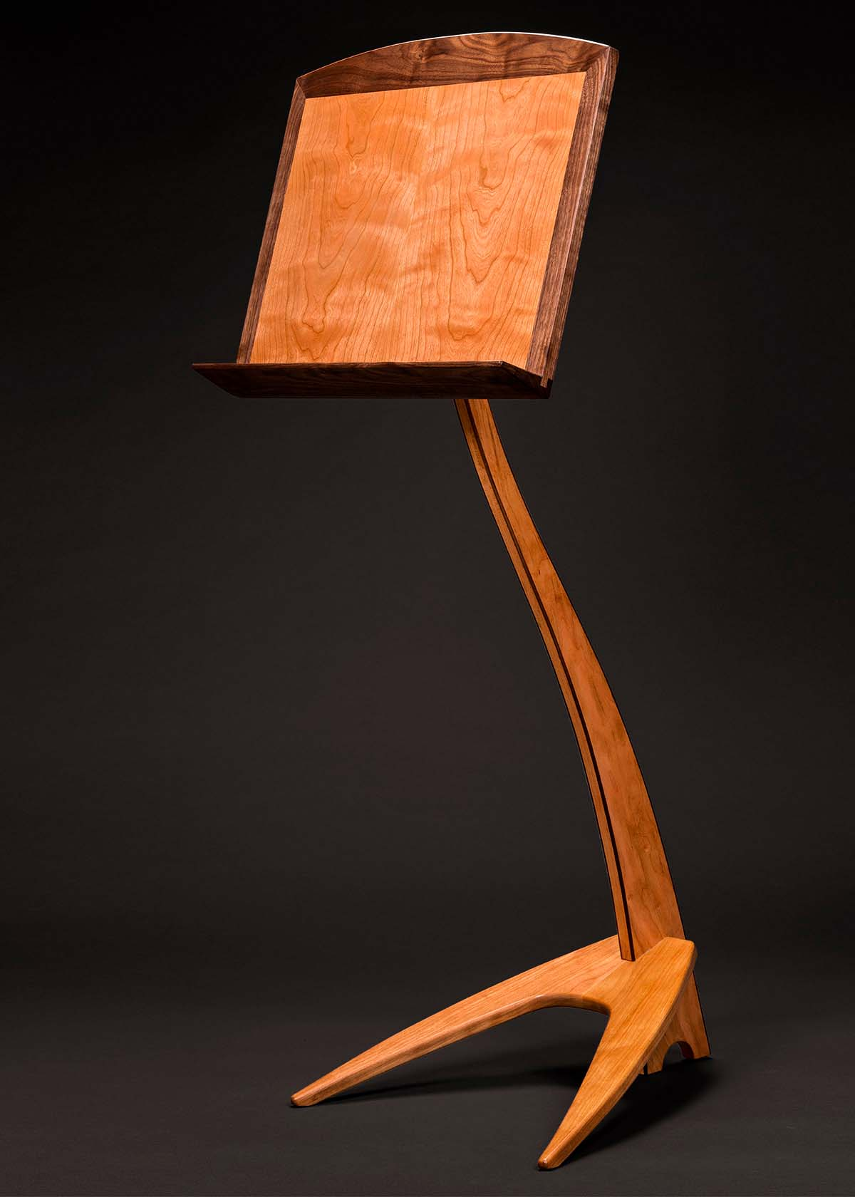 WM Music Stand in Cherry with Walnut Binding