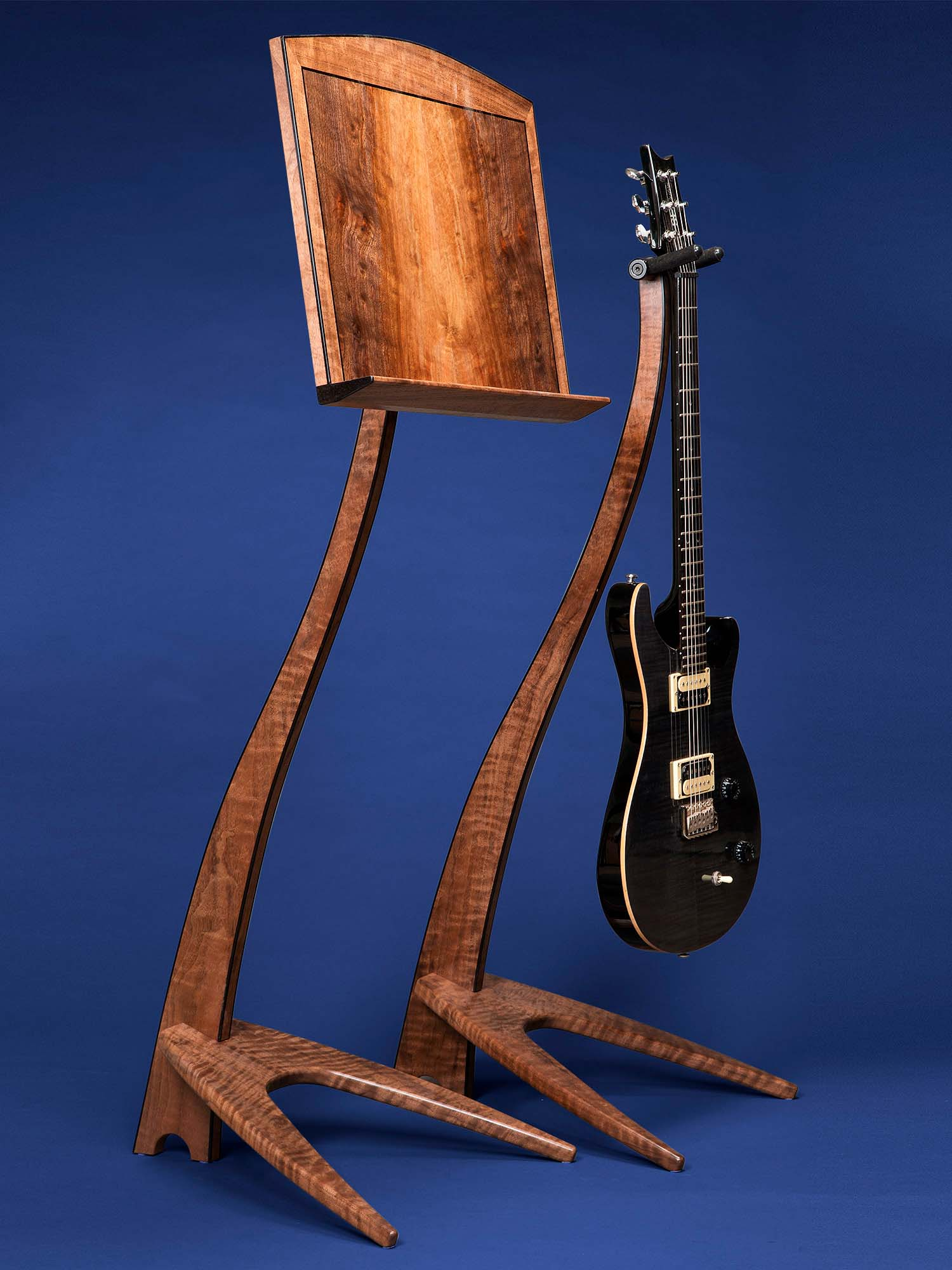 WM Claro Walnut Guitar Stand and Music Stand